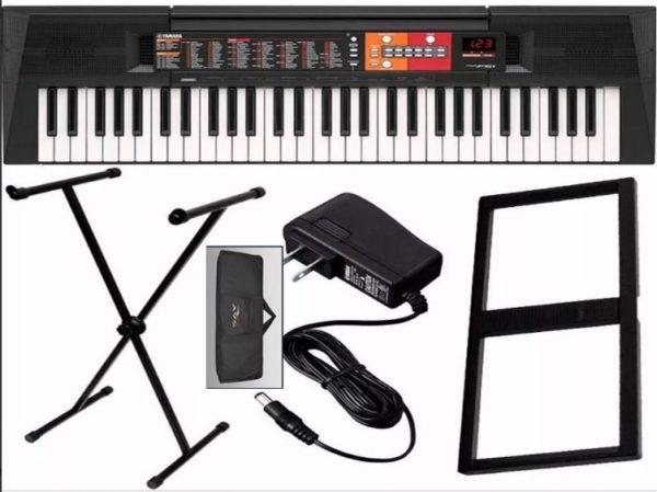 teclado_yamaha_psr-f51_61_teclas_5_8+suporte+capa+fonte