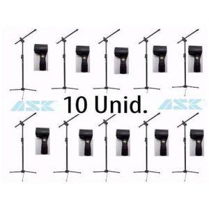 kit_c/_10_pc_pedestal_tps_suporte microfone+cachimbo